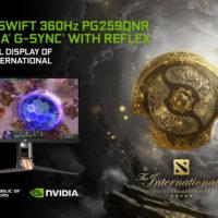ASUS ROG Swift 360 Hz cu tehnologiile NVIDIA G-SYNC și Reflex a fost ales monitorul oficial al DOTA 2 The International 10 Tournament